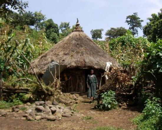 Bahir Dar, เอธิโอเปีย: Tipica casa de camperols  Tipica casa de campesinos