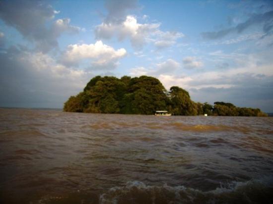 Bahir Dar, เอธิโอเปีย: Llac Tana (tornant de Zeghe les aigües del llac es van emprenyar, ja em veia naufragant)  Lago