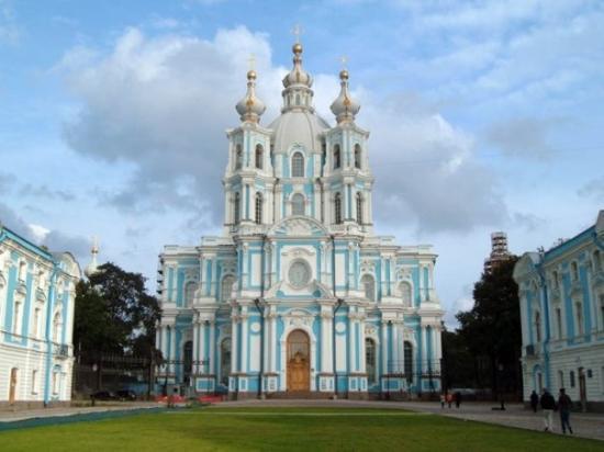 เซนต์ปีเตอร์สเบิร์ก, รัสเซีย: Catedral de Smolni a St. Petersburg.