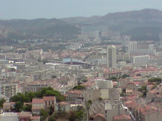 มาร์แซย์, ฝรั่งเศส: View on Marseille (and Stade Velodrome)
