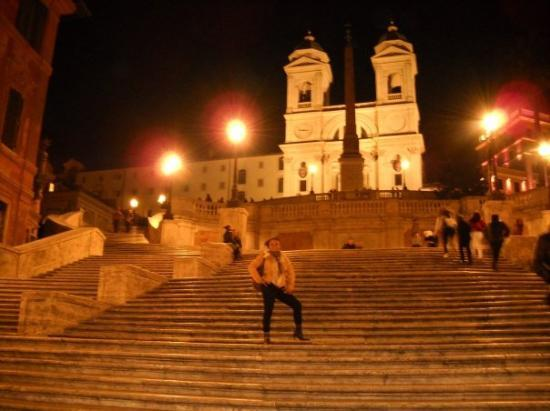 on the infamous spanish steps