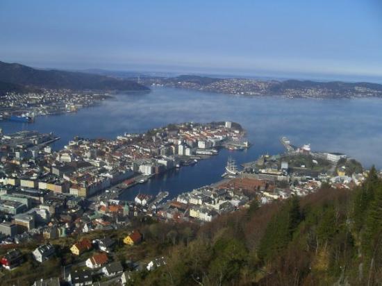 แบร์เกน, นอร์เวย์: Bergen desde el mirador.