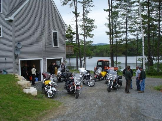End of our ride for lunch at dennis 39 s man what a place for Lazy e motor inn laconia nh