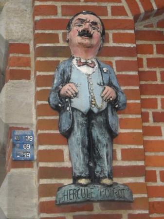 Hercule Poirot's statue at Ellezelles
