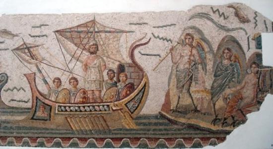 ตูนิส, ตูนิเซีย: Ulysses resisting the fateful call of the Sirens by putting plugs in the ears of his crew and ty
