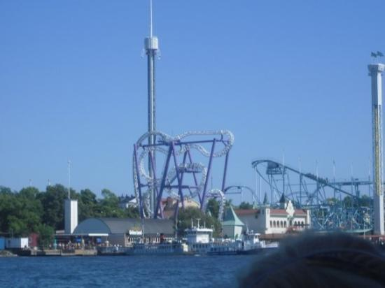 Grona Lunds Tivoli: Free fall tower and roller coaster at Tivoli...we couldn't manage to go there...but we'll do tha