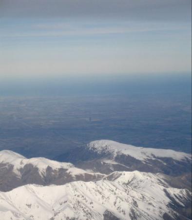 ไครสต์เชิร์ช, นิวซีแลนด์: Southern Alps, from plane going into Christchurch, NZ.