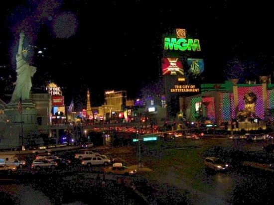 The Strip: view of the Las Vegas Strip from the Luxor