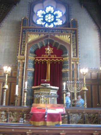 The Great Synagogue of Stockholm: Interior, looking towards the 'Ark'