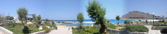 Blue Beach Villas & Apartments: Greece Crete Chania Akrotiri Stavros Blue Beach Villas Panorama from our veranda