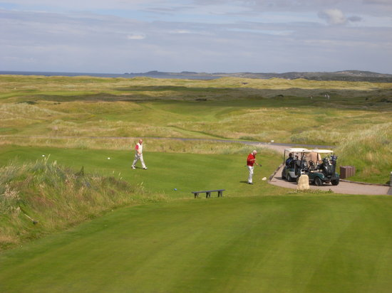 Ballyliffin Golf Club: View from the Golf Club's Terrace!