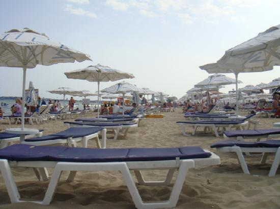 Grand Victoria Hotel : the beach with no space