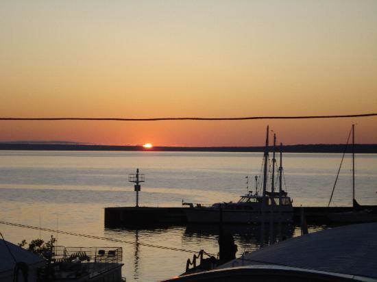 The Bayfield Inn: Sunrise over Madeline Island, August 26, 2009