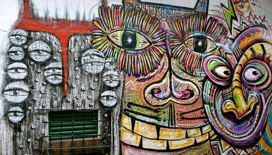 Dans une rue de La Candelaria, quartier historique de Bogota...