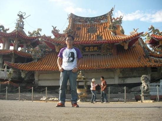 Nantou, Taiwan: 集集武昌宮~ 921大地震,使整座