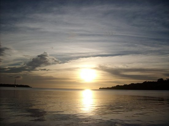 View from our ocean front hotel room in Moorings in Port Vila