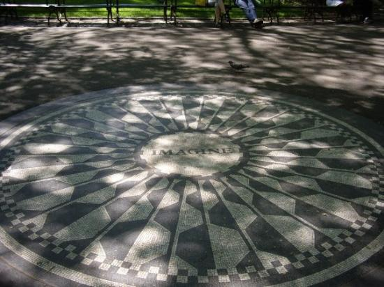 Strawberry Fields, John Lennon Memorial: IMAGINE that... Mr. Jerry Garcia died at Strawberry Fields AUG 9th 2005.
