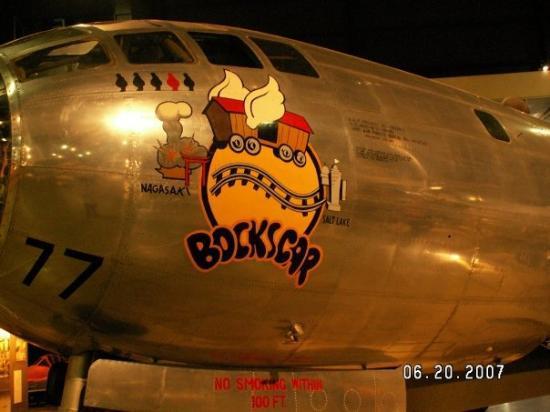 """เดย์ตัน, โอไฮโอ: """"Bockscar"""" dropped the A-Bomb on Nagasaki. US Air Force Museum in Dayton, Ohio."""