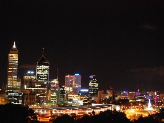 คิงส์ปาร์คแอนด์โบตานิกการ์เดน: Perth City nightview, from King's Park