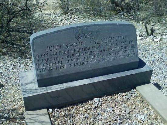 A tombstone in Tombstone, Az Spring '08