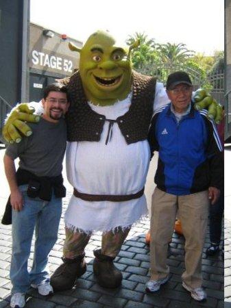 ยูนิเวอร์ซัล สตูดิโอ ฮอลลีวูด: Con Shrek en Universal Studios!