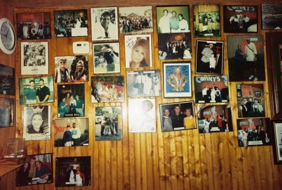 Corky's BBQ: More of the wall of fame