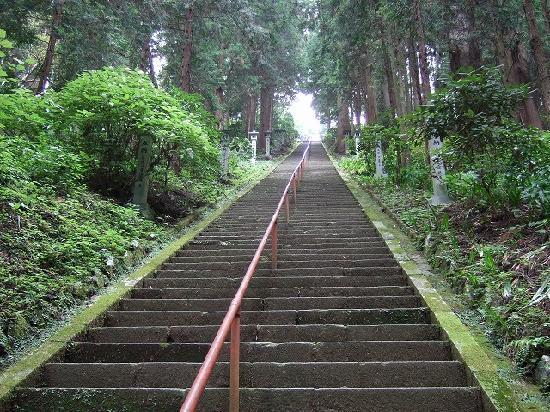 Minamiashigara, Japon : 奥の院への階段