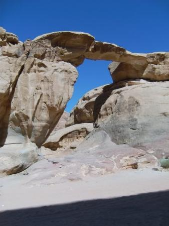 Medium sized natural arch- wadi Rum.