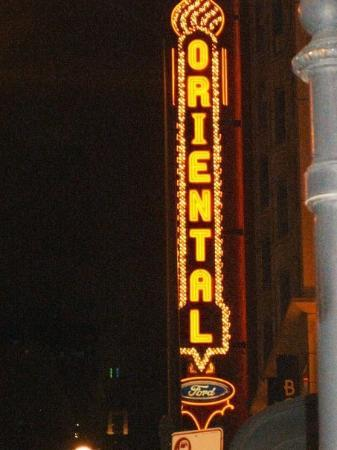 Oriental Theatre: The Oriental, obviously. where we saw RENT!