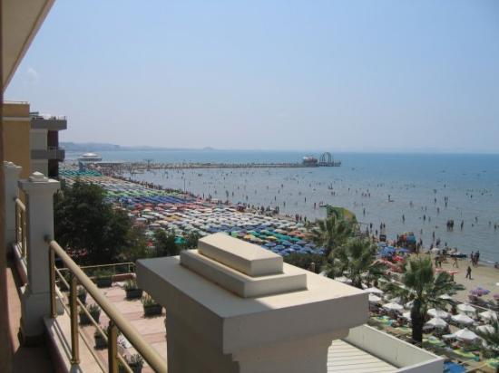 Adriatik Hotel : View of the Adriatic Sea from our hotel room in Durres, Albania.
