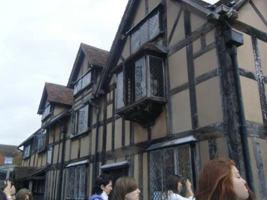 Stratford-upon-Avon, UK: casa de'n Shakespeare.