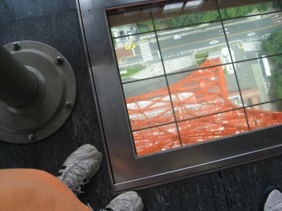 โตเกียวทาวเวอร์: looking down tokyo tower