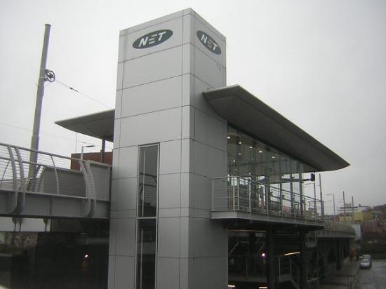 น็อตติงแฮม, UK: The Tram Station near rail station