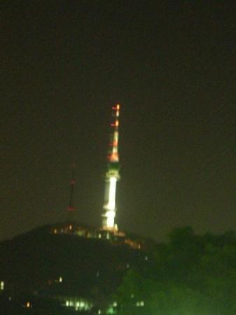 หอคอยโซล: Seoul Tower with a bit more of the city in the background