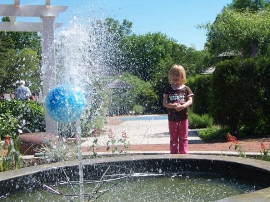 Hershey Gardens: Lydia enjoying the children's garden