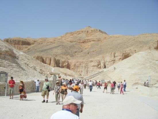 หุบเขากษัตริย์: Us walking to the first tomb - u were only allowed in 3 which was stupid and no pics!!