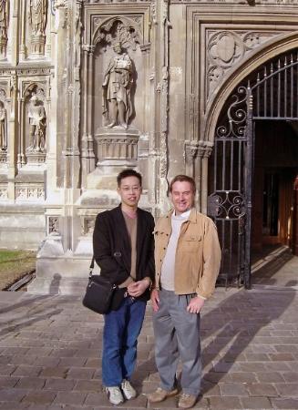 แคนเทอร์บิวรี, UK: my and Kian at the fron door