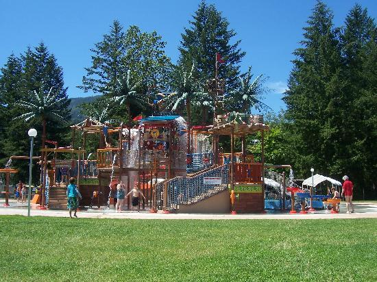 Chilliwack, Canada: Water play area