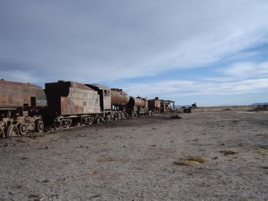 Cmentarzysko pociągów (Salar de Uyuni, Boliwia)