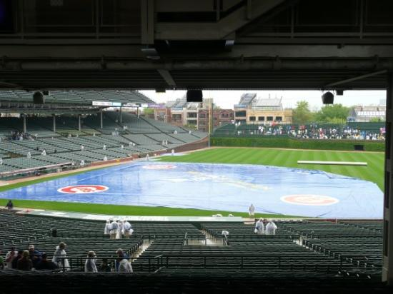 Wrigley Field: View from our seats.  
