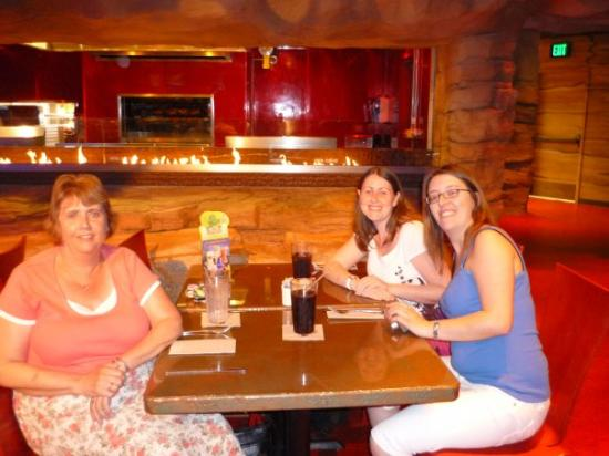 Disney Springs: My mum, Sarah Gunter and Me in the T Rex Cafe, Down Town Disney. Flordia Dec 08