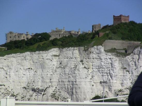 The White Cliffs of Dover and huge castle up top