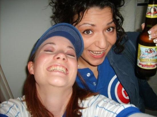 ACME Hotel Company Chicago: Michelle and I at Cubs Game