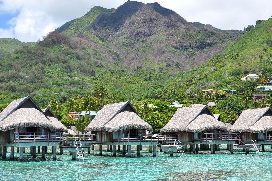 Sofitel Moorea Ia Ora Beach Resort: Overwater bungalows and the island