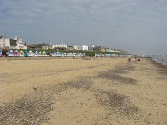 Southwold Beach looking towards the lighthouse & pier Southwold 2009