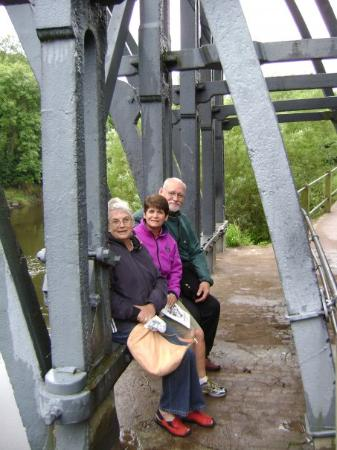 The Iron Bridge and Tollhouse: My mom, Stephanie Speros(photos), Bruce, my step dad were under the Ironbridge in Shorpshire.