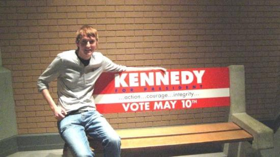 John F. Kennedy Presidential Museum & Library: Benj at the JFK Museum and Library, Boston.