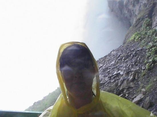 Journey Behind the Falls: Me at the back of Niagara Falls