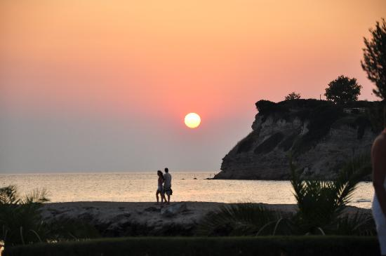 Porto Sani Village: Sunset from See You Bar