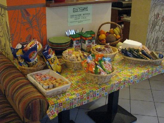 อพาร์ทโฮเต็ล ซิตี้ 5: Buffet della colazione